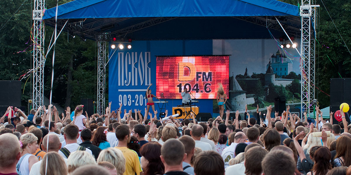 Резидент  DFM DJ Попов в День города Пскова